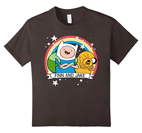 Kids CN Adventure Time Finn & Jake Rainbow Banner Graphic T-Shirt 6 (Adventure Time Shirt)