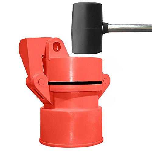 Vented Locking Well Cap: Orange gripNlock by Enviro Design Products
