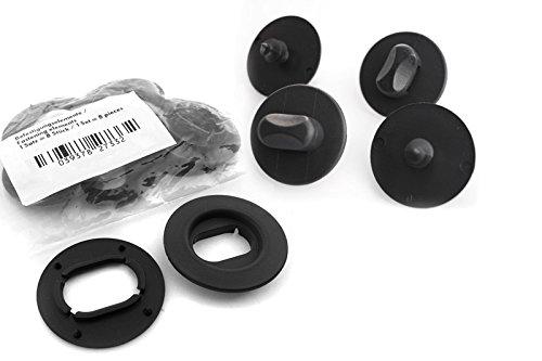 kh Teile - Pomelli girevoli di Fissaggio per tappetini Auto, con contrapposti, ovali, 12 pz kh Teile GmbH