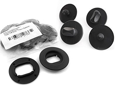 Fußmatten Drehknebel (oval) Befestigung + Halter Clip Automatten VW Skoda Opel Porsche Seat
