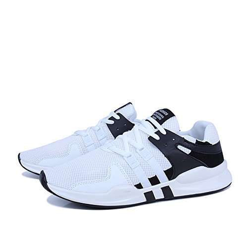 Sport Men's FZDX 008 Casual white Men Running Shoes Black for Lace up Breathable Shoes Lightweight qq5rwd6Z