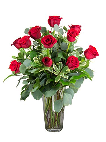 Dozen Premium Red Roses Bouquet - One Dozen Premium Red Roses- Hand Delivered in a Vase by Radebaugh Florist- Serving Baltimore Since 1924