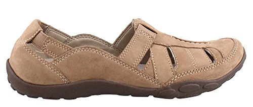 Clarks Women's Haley Moon Flat, Taupe Nubuck, 7 M US