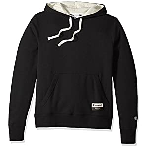 Champion Men's Authentic Originals Sueded Fleece Pullover Hoodie, Black, Medium