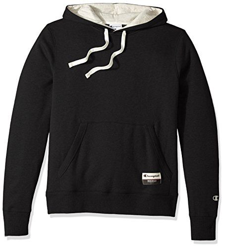 Champion Fleece Pullover - Champion Men's Authentic Originals Sueded Fleece Pullover Hoodie, Black, Small