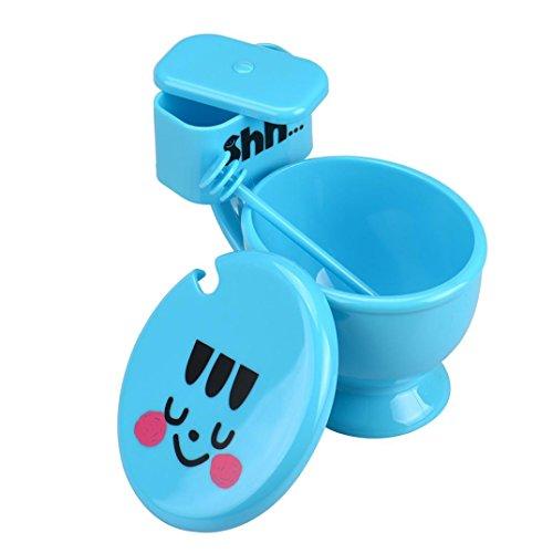 NewKelly Creative Funny Toilet Seat Cup with Lid Spoon Cute Lovers Coffee Mug (Blue) Coffee Mug Bib