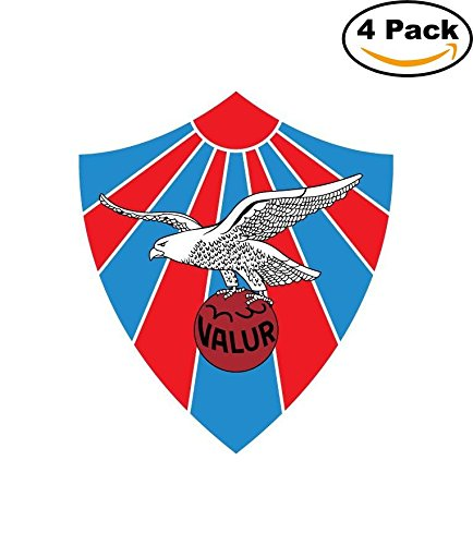 fan products of Valur Reykjavik FC Iceland Soccer Football Car Bumper Sticker Decal 4x5
