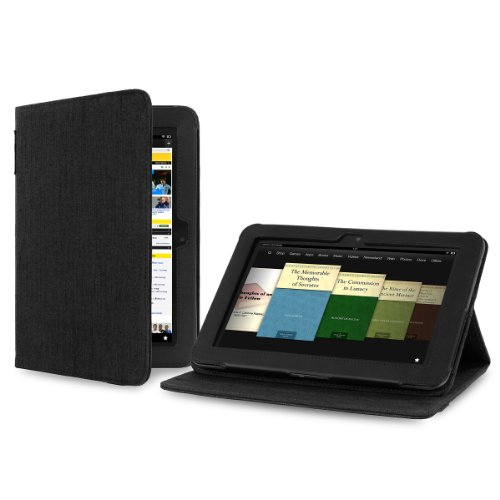 Cover-Up Amazon Kindle Fire HD 8.9 Tablet Version Stand Natural Hemp Cover Case - Carbon Black