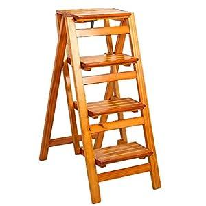 Taburete plegable, escalera de madera de 4 niveles, con ...