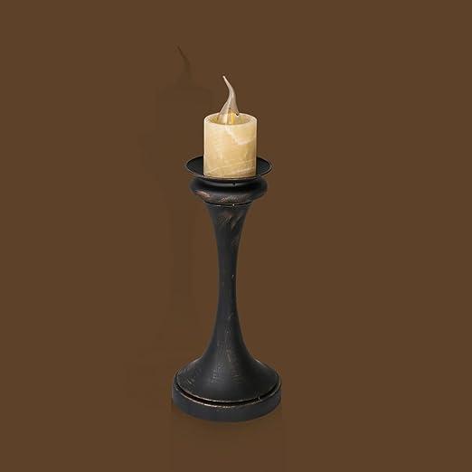 Lámparas de escritorio Vela de cabecera de hierro lámpara de mesa ...