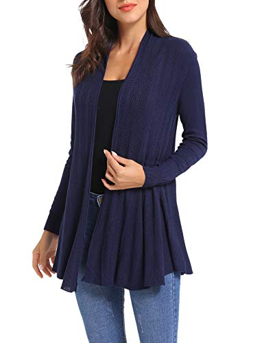 (iClosam Womens Casual Long Sleeve Open Front Cardigan Sweater)