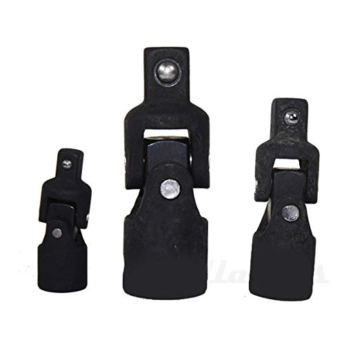 KCHEX>NEW 3pc Impact Swivel Universal Joint Air Impact Socket Set 1/4