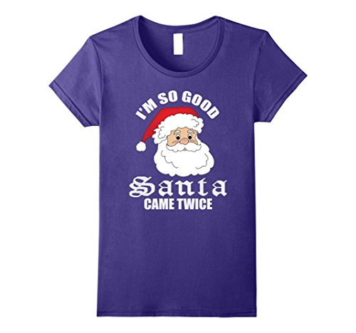 Womens JUST RELEASED : I'm So Good SANTA Come Twice XL Purple