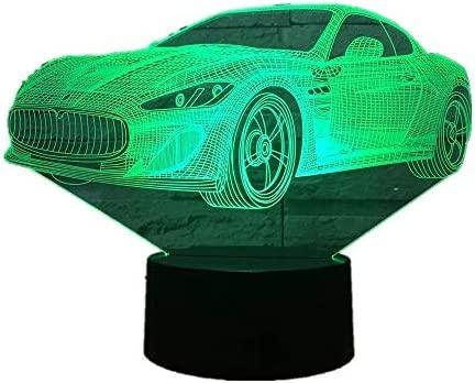 Lámpara Wangzj 3d / 7 colores que cambian la lámpara de ...