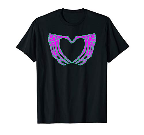 Pastel Goth Clothing, Skeleton Heart Hands Shirt ()