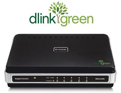 D-Link DGS-2205 5-Port 10/100/1000 Desktop Switch