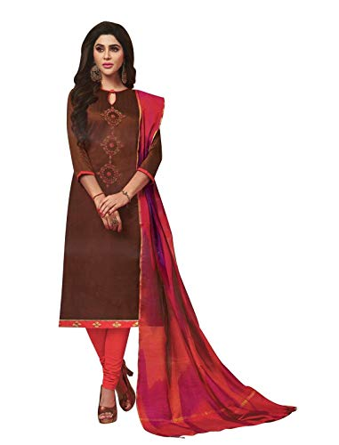 Womens Blended Silk Handworked Salwar Kameez with Banarasi Dupatta Womens Indian Pakistani Dress Ready to wear Salwar - Suit Churidar