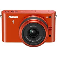 Nikon 1 J2 10.1 MP HD Camera with 11-27.5mm f/3.5-5.6 Lens (Orange)