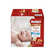 Huggies Little Snugglers Baby Diapers, Size 1, 80 Count, BIG PACK (Packaging may Vary)
