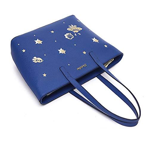 Tamaño 26 Bolsos Mujer Mano Azul 39cm Hombro 12 Casual Del 5cm Regalo Bolso Y De Madre Azul 5cm Moda Trabajo La color Hwx Para Día UnwdRqFF