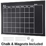 Framed Calendar Chalkboard: Includes Chalk & Magnets/Chalk Board Size 23.5'x15' / Wall Calendar/Wall Decor/Home Decor/Blackboard