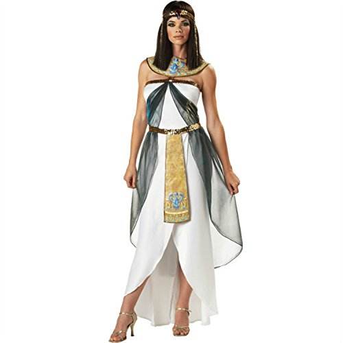 Princess Little Deer Adult Costumes (Women's White Greek Goddess Costumes Princess Cosplay Halloween Fancy Dress White)