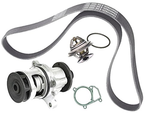 BMW e36 318 GRAF Coolant Pump METAL +Belt +92c Thermostat ()