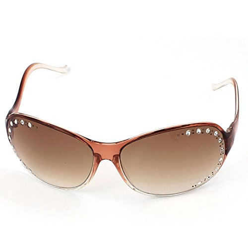 Lady Bling Rhinestone Decor Slim Rim Sunglasses Eyeglasses - Name Brand Of Sunglasses
