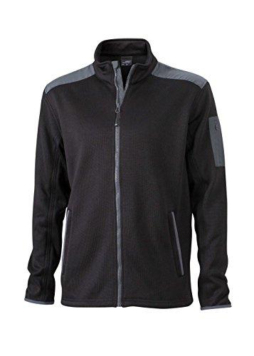 Fleece Caldo Molto Soffice In Pile Men's Maglia Jacket Giacca Black Knitted carbon E wqzYtIO