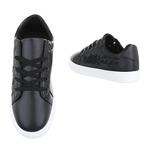 Ital-Design , chaussons d'intérieur femme Schwarz 6732-Y