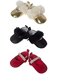 3 Pack Baby Girls Mary Jane Shoes, for Dress Holiday Wedding or Special Occasion, in Sizes 0-6 & 6-9 Months