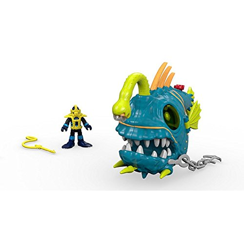 New - Imaginext Ocean Fighting Angler Fish with Diver -