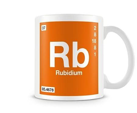 Periodic Table Of Elements 37 Rb Rubidium Symbol Mug Amazon