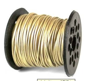 UnCommon Artistry Genuine Leather Round Cord 1mm Gold (By the Yard) (Cord Gold Leather)
