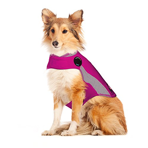 ThunderShirt Polo Dog Anxiety Jacket | Vet Recommended Calming Solution Vest for Fireworks, Thunder, Travel, & Separation | Pink, Large
