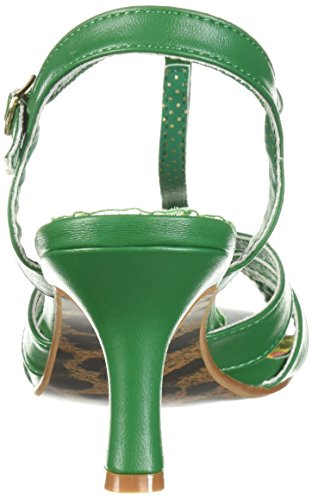 Bettie Page Women's Bp300-Layla Heeled Sandal Green CU3wzyD