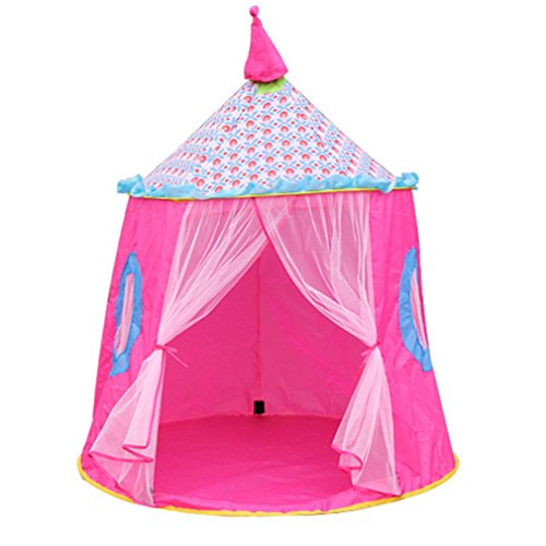 KooJoee Kids/Children Waterproof Anti-mosquito Foldable Pop Up Indoor and Outdoor Princess Castle Play tent/Play House/Toys As a Best Gift for 1-6 years old Kids/boy/girls/baby/Infant (Pink)