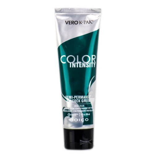 Joico Intensity Semi-Permanent Hair Color, Peacock Green, 4 Ounce (Emerald Peacock)