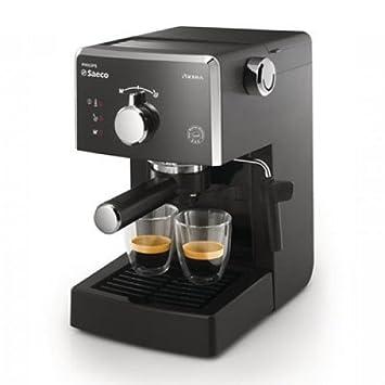 Saeco Manuelle Poemia Focus- Cafetera espresso manual, color negro