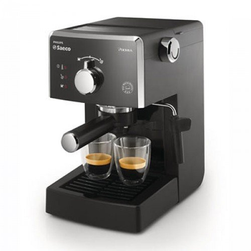 Saeco Manuelle Poemia Focus- Cafetera espresso manual, color negro