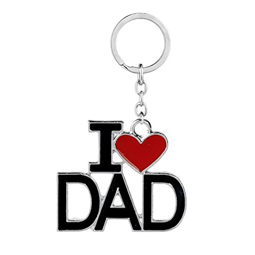 Family Member Gift for Dad Father I Love DAD Keychains Key Ring Jewelry for Father