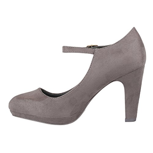 Femme Elara Chaussures London Compensées Grey rEPwCqnExT
