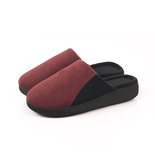 thick cotton soft warm wine red slippers autumn 41 comfortable In 40 winter and soled£¬Non plush slip house tasteless female x7nYpR