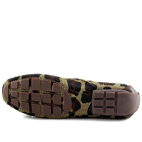 Marc Joseph New York Donna Vera Pelle Made In Brasile Casual Cipresso Hill Driver Camo Leopard