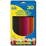 30 Colored Pencils, crayons de couleurs