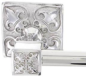 Vicenza designs tb8013 fleur de lis towel bar 24 inch polished nickel - Fleur de lis towel bar ...