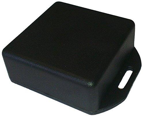 Hammond 1551RFLBK Black ABS Plastic Flanged Lid Project Box, 50mm x 50mm