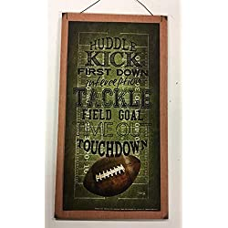 Football Touchdown Huddle Kick field goal Sports Wall Art Childrens Room Decor Sign Boys Bedroom Decor