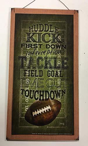 Football Touchdown Huddle Kick field goal Sports Wall Art Childrens Room Decor Sign Boys Bedroom Decor