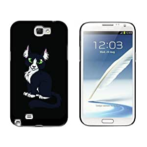 Black White Cat On Black Case for Samsung Galaxy Note II 2 Black batteryase iphone iphone cases for teen girls